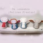 Angelitos navideños para imprimir