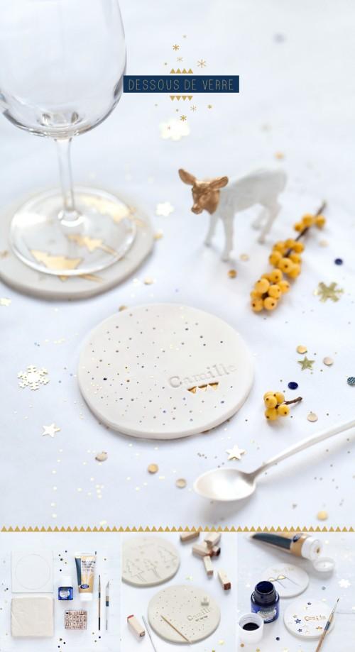 ideas decorar mesa navidad 2 500x919 Ideas DIY para decorar la mesa de Navidad con los niños