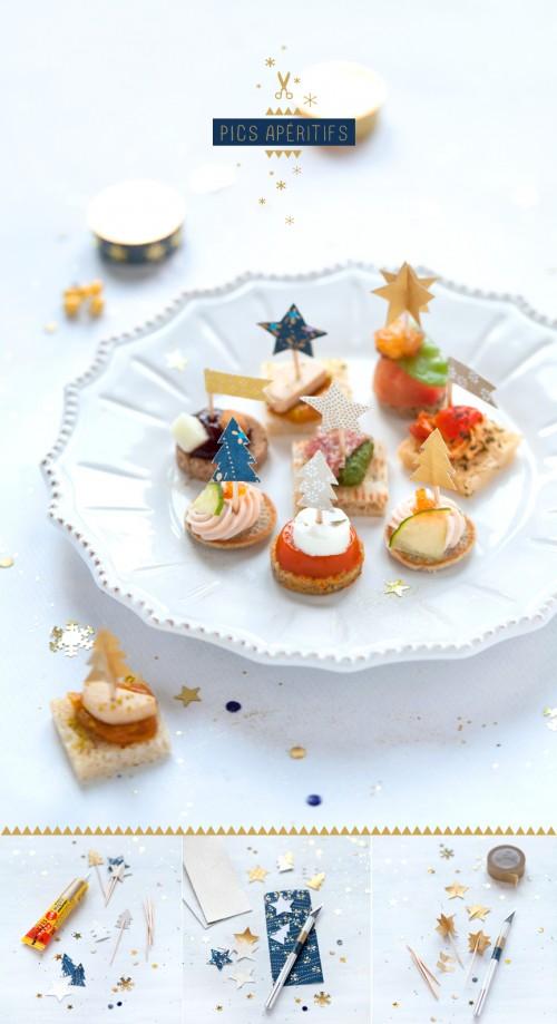 ideas decorar mesa navidad 3 500x919 Ideas DIY para decorar la mesa de Navidad con los niños