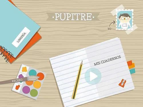 Pupitre Santillana1 Pupitre, la aplicación infantil de Santillana para tablets.