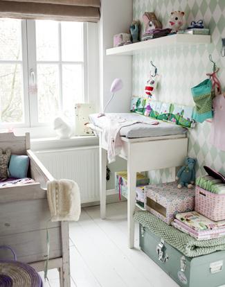 dormitorio bebe 1 Dormitorio de bebé rústico