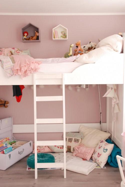 Habitaci n para ni a en rosa decopeques for Habitaciones para 2 ninas