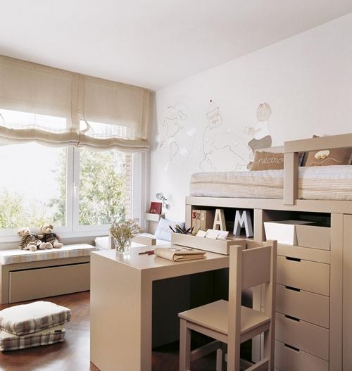 Habitaciones infantiles ideales para estudiar decopeques - Mesa estudio infantil ...