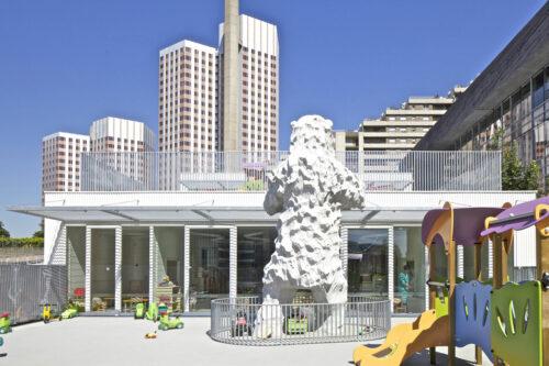 jirafa 10 500x333 Espacios Cool para niños... Guardería La Jirafa en París