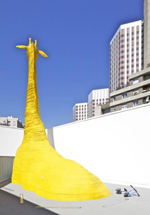 jirafa 6 500x716 Espacios Cool para niños... Guardería La Jirafa en París