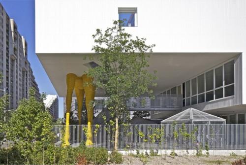jirafa 7 500x335 Espacios Cool para niños... Guardería La Jirafa en París