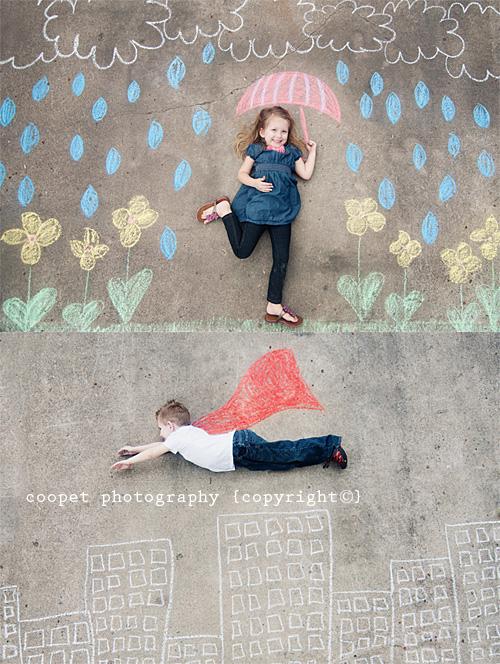 fotos divertidas niños Decorados con tiza para hacer fotos divertidas