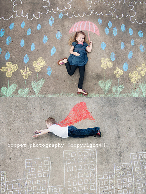Decorados con tiza para hacer fotos divertidas