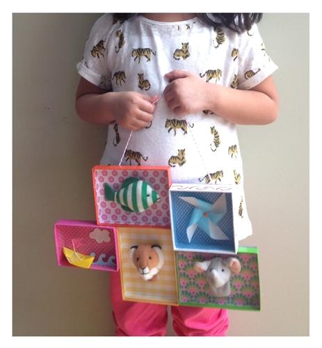 çocuk 1 DIY zanaat: Şeker Topak tarafından papered kutu üstleri ile bir kitaplık