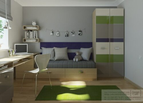 habitacion juvenil verde 1