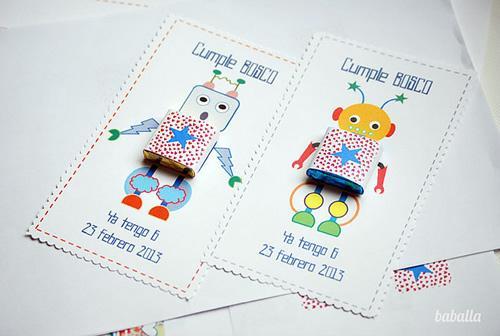 fiestas infantiles invitaciones robots 11 Sorprendentes invitaciones de cumpleaños para niños