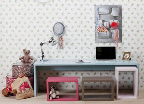 zona de estudo niñas 500x362 10 Ideas para organizar y decorar la zona de estudio de los niños