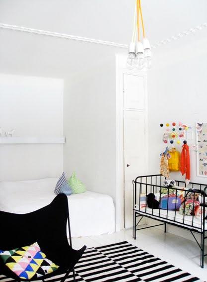 Habitación niños blanco y negro
