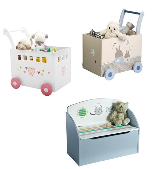 Cajas de almacenaje para guardar y transportar los juguetes