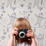 Línea de Papel pintado infantil de Muffin&Mani