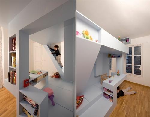 10 dormitorios infantiles con camas creativas decopeques for Dormitorio infantil 2 camas