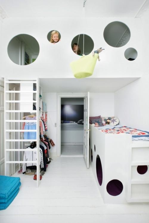 10 dormitorios infantiles con camas creativas decopeques for Habitaciones infantiles modernas