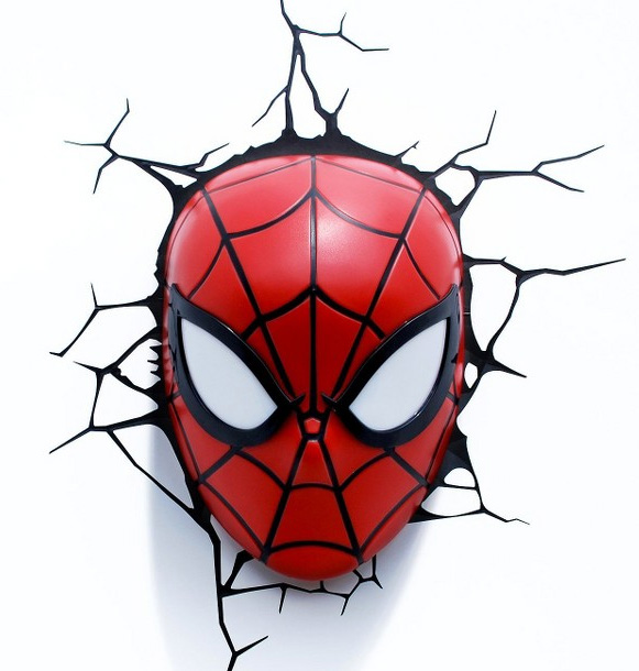 careta Spiderman ¡Llegan las súper lámparas Marvel 3D!