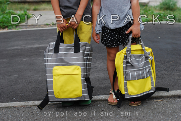 diy backpacks- boy and girl