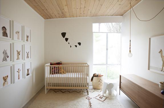 Fotograf a de animales en la habitaci n del beb decopeques - La habitacion del bebe ...