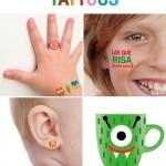 Tatuajes para Niños… Ahora para imprimir en casa.