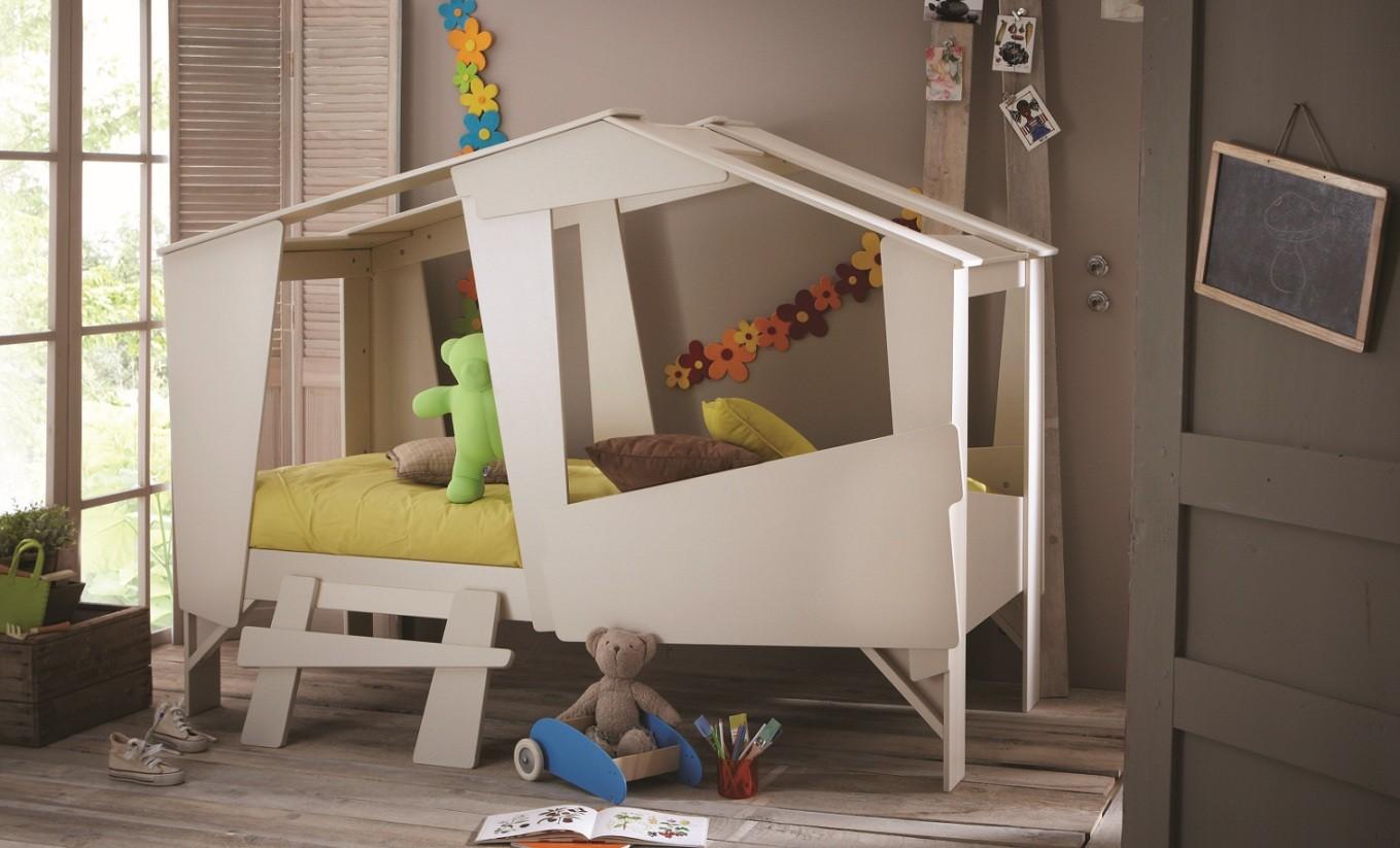 Una original cama caba a para ni os decopeques - Camas con tobogan para ninos ...