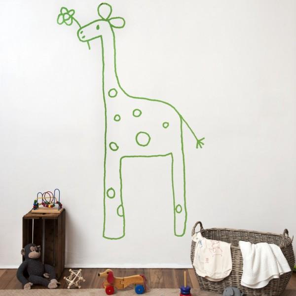 vinilo-niños-jirafa