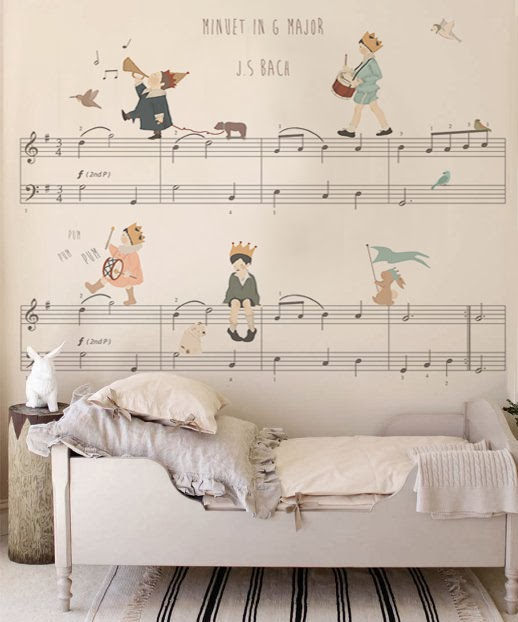 Mural para Niños Little hands wallpaper - Bach