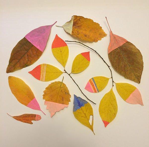 hojas otoño  7 Manualidades con hojas de otoño para niños
