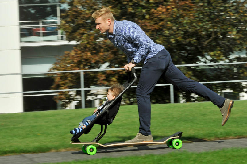 Longboard Stroller  An urban mobility concept with an eye to the ...