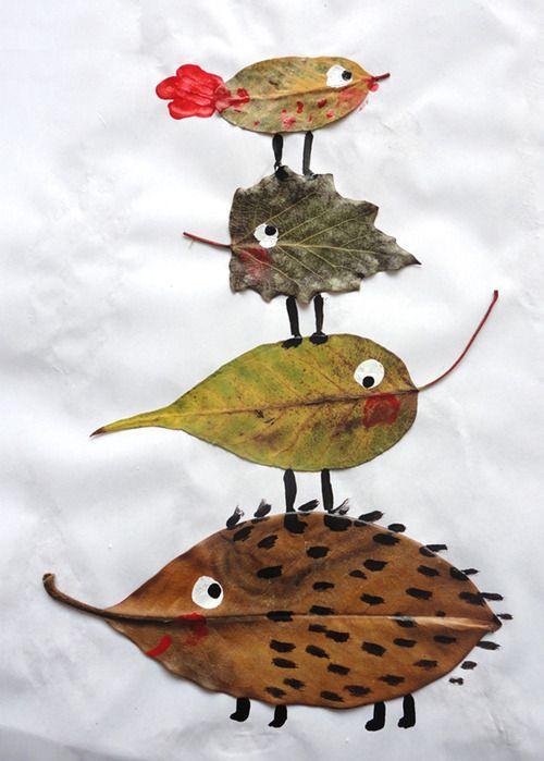 manualidades infantiles 7 Manualidades con hojas de otoño para niños