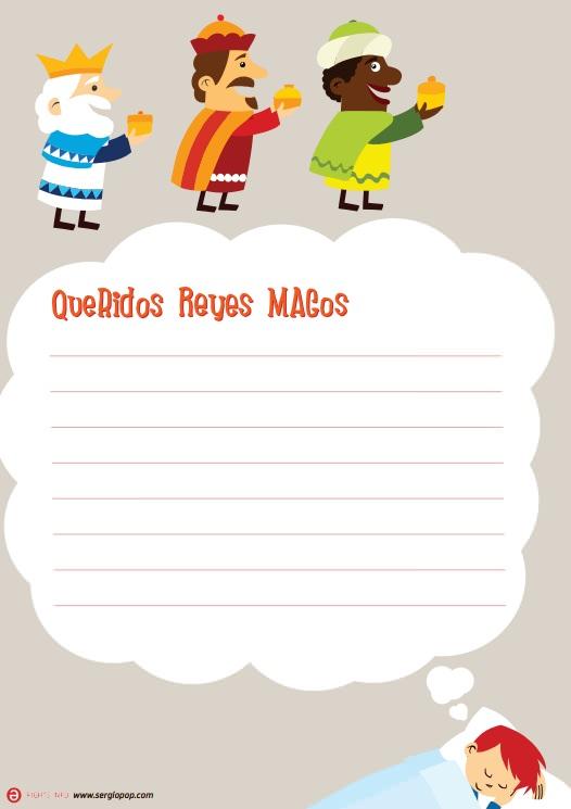 Carta imprimir Reyes Magos Niño Carta de los Reyes Magos para imprimir