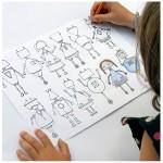 Robots, caras y monstruos. Dibujar, colorear e imprimir.