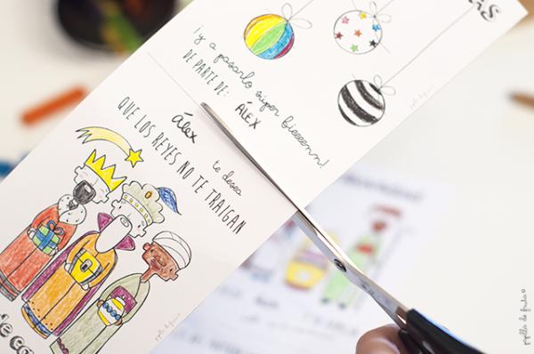 Tarjetas de navidad para descargar y colorear decopeques - Postales de navidad para hacer con ninos ...