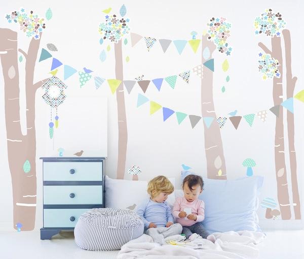 vinilos de tela para una habitaci n infantil decopeques