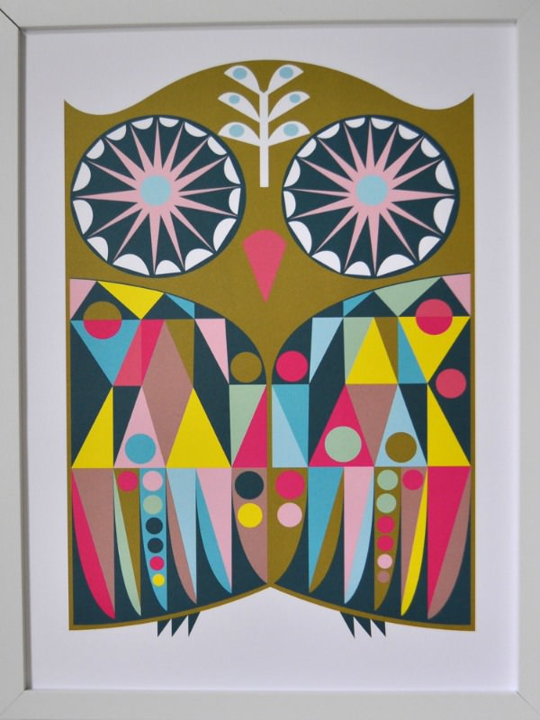 Neo-Geo Owl Print by Banquet Atelier