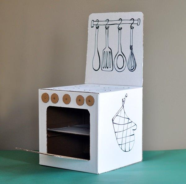 juguetes carton cocina manualidades 10 Manualidades para Niños con Cajas de Cartón