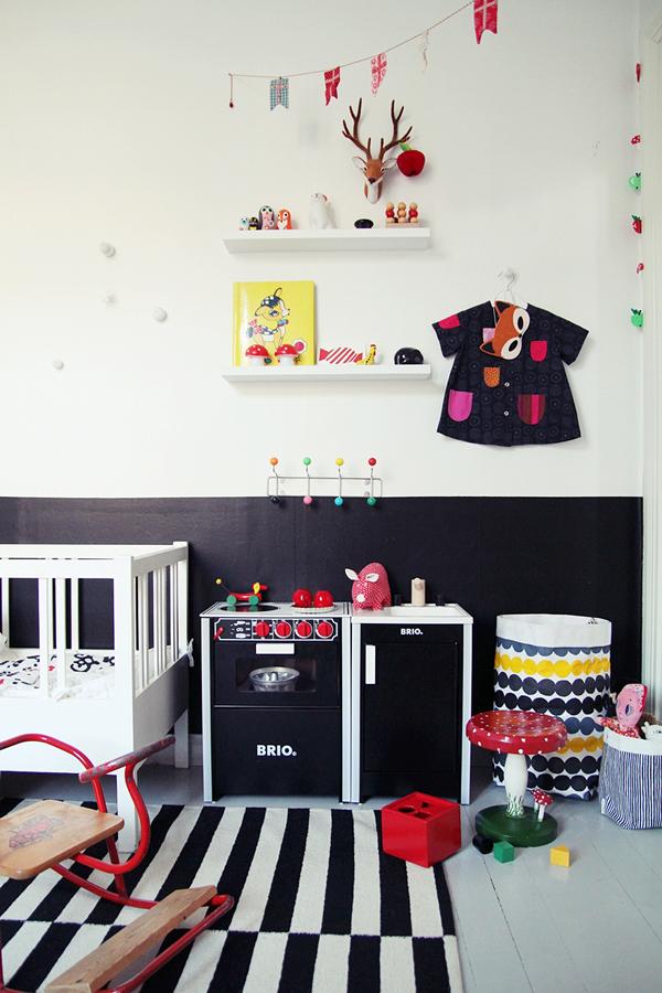 Decoracion Escandinava Ni?os ~ Pinceladas de color en un dormitorio infantil escandinavo  DecoPeques