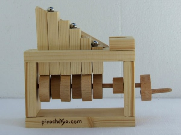 Wooden MiniMarbel Toy by PinochoYyo