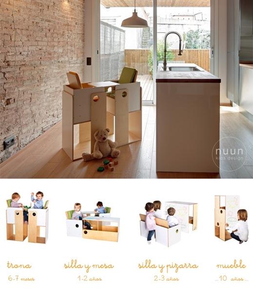 Nuun kids design muebles divertidos y multifuncionales - Muebles para chicos ...