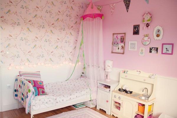 Habitación en rosa para una niña con muebles de Ikea  DecoPeques