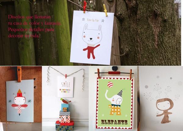menudos cuadros 2 Tienda online Menudos Cuadros  Paredes Creativas para Niños