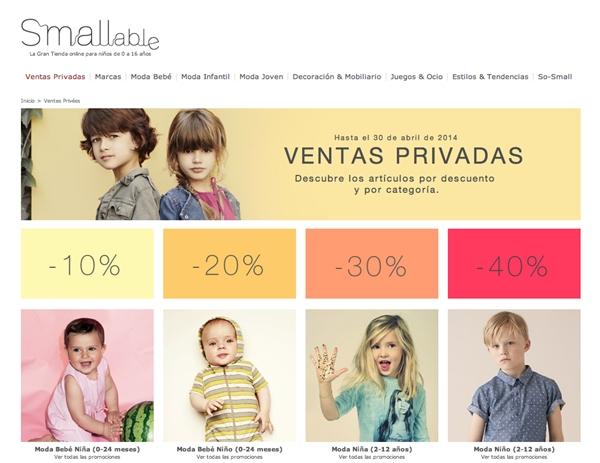 smallable-ventas privadas