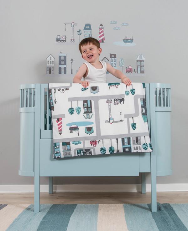 vinilos infantiles textiles niños sebra Vinilos infantiles y Textiles para Bebé de Sebra