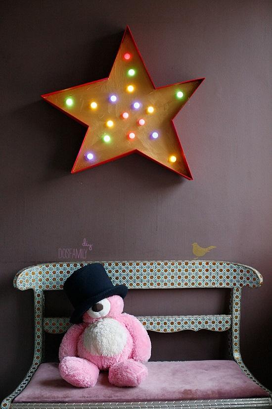 DIY: Siluetas y Rotulos Luminosos para la habitación infantil