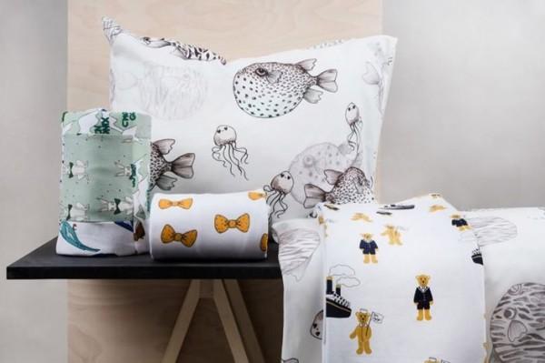 Ropa de cuna y cama de Mini Rodini