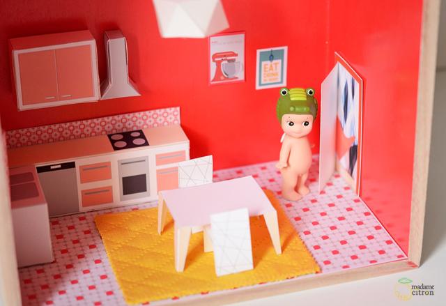 Muebles de papel descargables para sencillas casas de for Papel de empapelar muebles