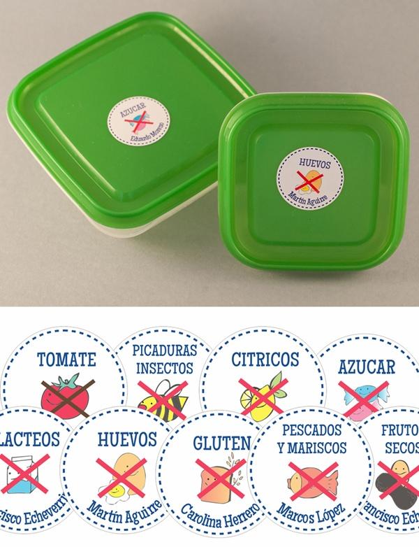 etiquetas comida Lovelytags: las etiquetas personalizadas más adorables