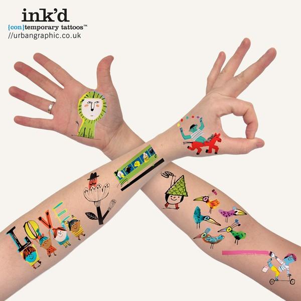 Divertidos tatoos temporales con Ink'ed de Urban Graphic