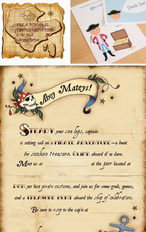 invitaciones fiesta pirata